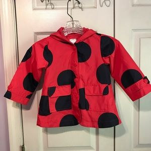 Carters Little Girls 24 Months Ladybug Raincoat